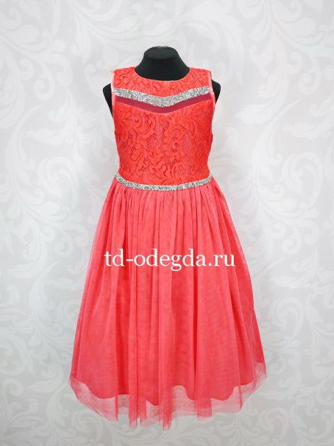 Платье 7895 красный