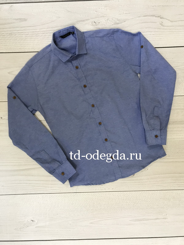 Рубашка 731 синяя