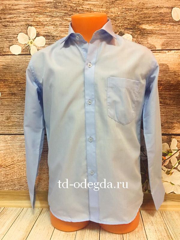 Рубашка 378 голубой