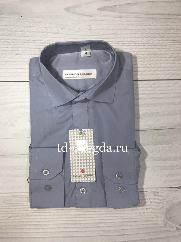 Рубашка 378 серый